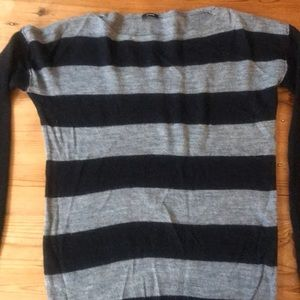 Black and gray stripped sweater